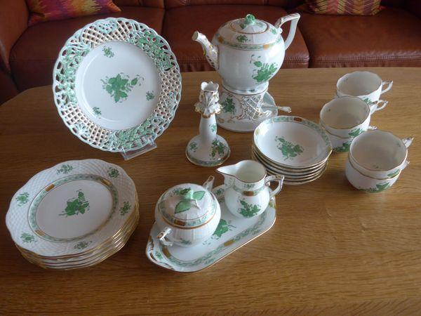 Herend Apponyi grün Teeservice - Vitrinenware -