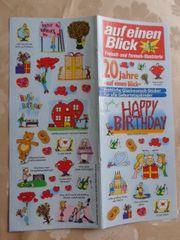 Sticker Aufkleber Happy Birthday romantische