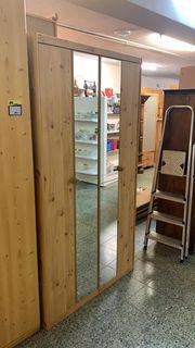 Kleiderschrank mit Spiegeltüren - L13103