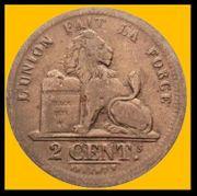 Münzen 2 Centimes Leopold I