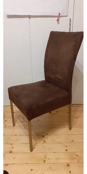 4 elegante pflegeleuchte braune stühle
