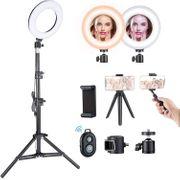 6-Zoll-Ringlicht mit Stativstativ für Selfie-