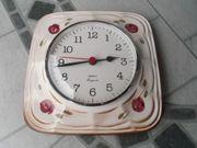 Wanduhr Küchenuhr Keramikuhr Vintage 70er