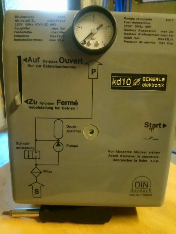 Heizölpumpe-Öldruckspeicher Eckerle KD 10