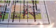 Ein Set Briefmarken Weltmeister 2014