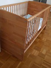 Baby - Kinderbett mit Bettset 70x140