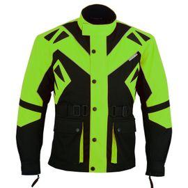 Motorradbekleidung Herren - Textil Motorradjacke Grün Schwarz