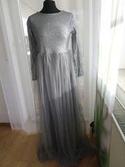 Ballkleid Prizessinnenkleid silber Gr 40