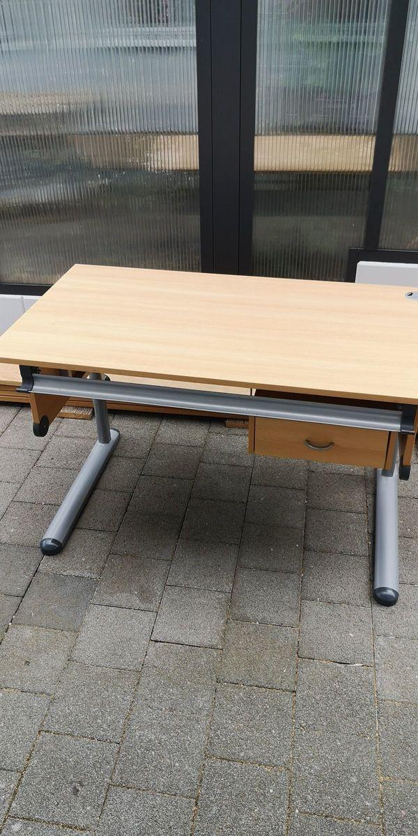 Schreibtisch mit Schublade und Schulranzenhalterung