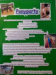 Pony Ponyparty Kindergeburtstag