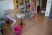 Glas-Metall-Schreibtisch