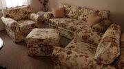 Couchgarnitur vierteilig 2 Jahre jung