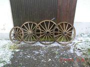 4 Alte Wagenräder Holz