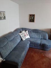 Sofa ausziehbar blau ca 245x220cm