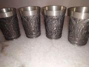 4 x Rein Zinn Trinkbehälter