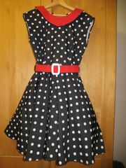 Rock n Roll-Kleid schwarz mit