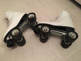 Skaten, Rollen - Leder Rollschuhe