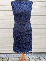 Etuikleid Cocktailkleid Abendkleid Spitzenkleid marineblau