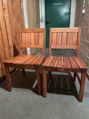 2 IKEA Stühle aus Massivholz