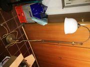 Stehlampe Messing mit Milchglasschirm