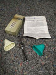 alte Medizintechnik Manole Injektionsspritze Hoechst