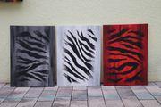 Ölgemälde Zebra auf Leinwand 3