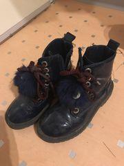 Zara blaue Mädchen Lack Boots