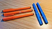 3 Tintsnschreiber 2 Faserschreiber ohne