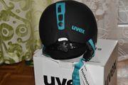UVEX Skihelm manic pro black-petrol