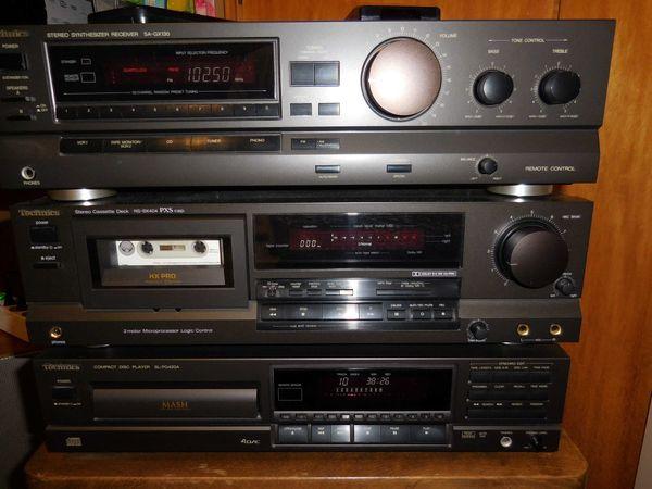 Technics Anlage Receiver SA-GX 130, Cassetten Deck RS-BX404, CD Player SL-PG420A