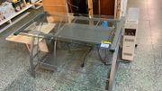 Glas Schreibtisch - LD08127