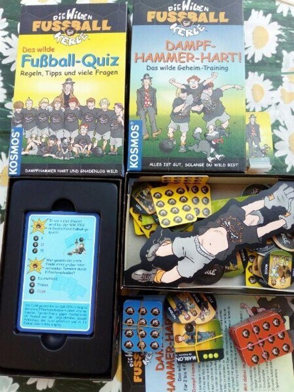 """2 Spiele \""""Die wilden Kerle\"""" Fußball-Quiz und Dampf-Hammer-Hart von Kosmos"""