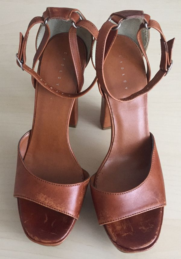 6b5314e69a7681 NEU tolle Sommer-Plateau-Sandalen High-Heels used-look m. Riemchen ...