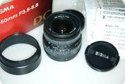 Nikon Objektiv Sigma 18-50 mm