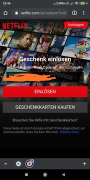 Netflix Gutschein über 143 88