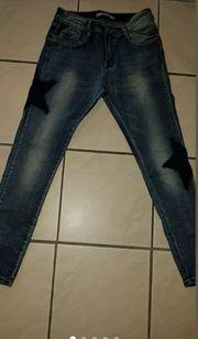 Jeans Röhrenjeans Skinny Neu