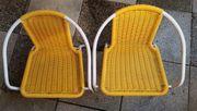 2 Kinderstühle gelb 12EUR