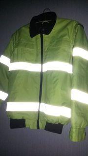 Neongelbe Warnschutz- Arbeitsjacke Weste Gr