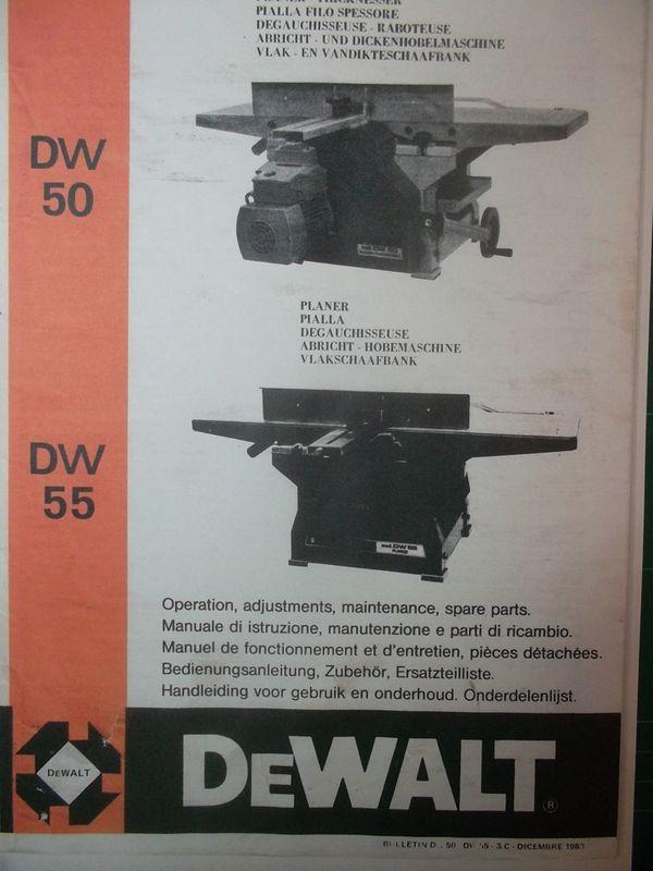Bedienungsanleitung ADH DeWalt DW 50