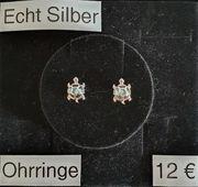Echt Silber Ohrstecker Schildkröte