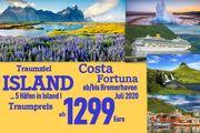 Traumreise ISLAND mit Costa Fortuna