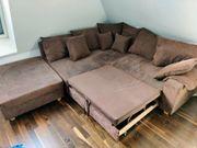 ZU VERSCHENKEN Eck-Couch mit Schlaffunktion