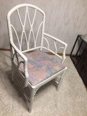 Stuhl weiß vintage