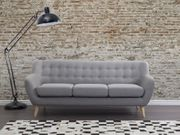3-Sitzer Sofa Polsterbezug hellgrau MOTALA