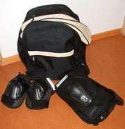 Tasche für Rollerblades und Knie-