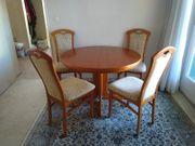 Eßecke mit 4 bequemen Stühlen