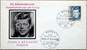 Briefmarken BRD 1964 FDC Kennedy