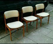 3 dänische vintage Teakholz Stühle