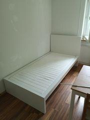 Bett weiß L 210cm x