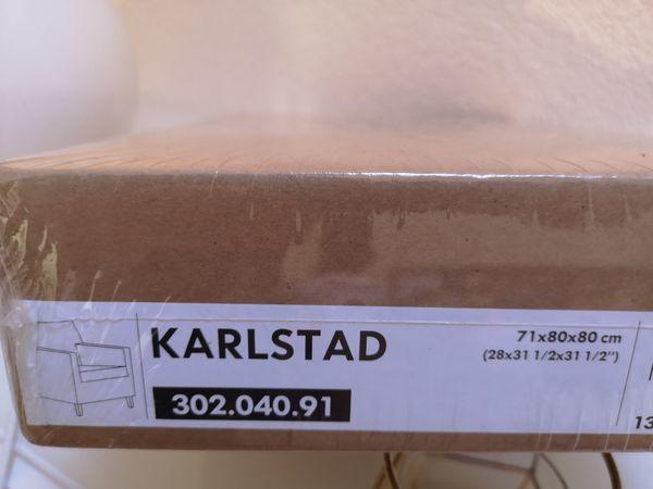 Ikea Karlstad Bezug Sessel grau